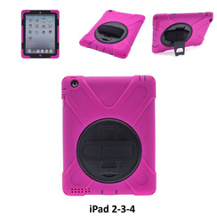 Apple Back Cover Tablet Hot Rose pour iPad 2-3-4
