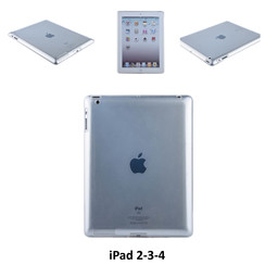 Apple Transparant Back Cover Tablet voor iPad 2-3-4