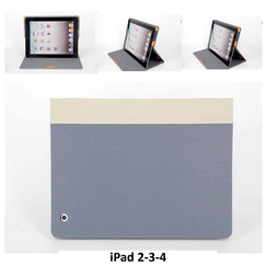 Apple Gray Book Case Tablet for iPad 2-3-4