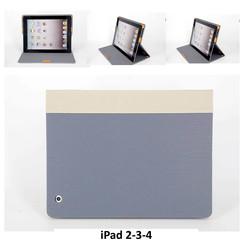 Apple Grijs Book Case Tablet voor iPad 2-3-4