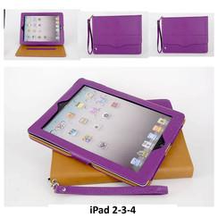 Apple Paars Book Case Tablet voor iPad 2-3-4