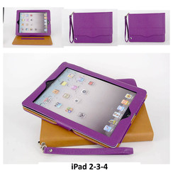 Apple Purple Book Case Tablet for iPad 2-3-4