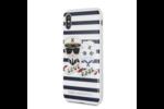 Karl Lagerfeld Karl Lagerfeld backcover voor Apple iPhone X-Xs - Stripes