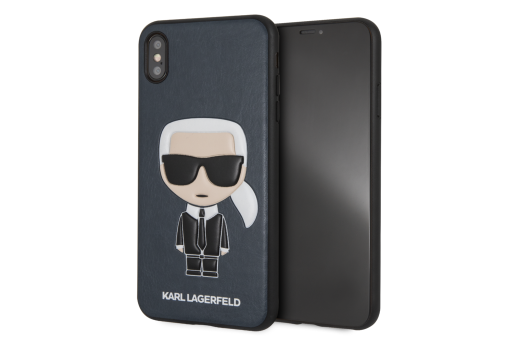 Karl Lagerfeld Karl Lagerfeld backcover voor Apple iPhone Xs Max - Blue