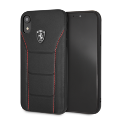 Ferrari silicone backcover voor Apple iPhone XR - Black