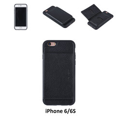 UNIQ Accessory iPhone 6/6S Kunstleer Backcover hoesje - Zwart