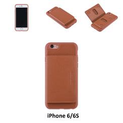 UNIQ Accessory iPhone 6/6S Kunstleer Backcover hoesje - Bruin