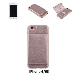 UNIQ Accessory iPhone 6/6S Kunstleer Backcover hoesje - Roze