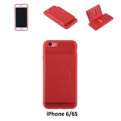 UNIQ Accessory iPhone 6/6S Kunstleer Backcover hoesje - Rood