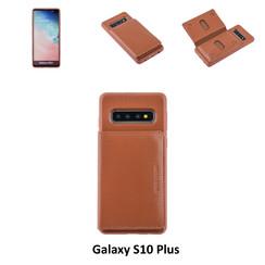 Backcover voor Samsung Galaxy S10 Plus - Bruin