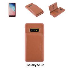 UNIQ Accessory Galaxy S10e Kunstleer Backcover hoesje - Bruin