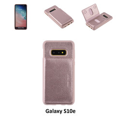 UNIQ Accessory Galaxy S10e Kunstleer Backcover hoesje - Roze