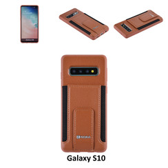 Back Cover for Galaxy S10 - Brown
