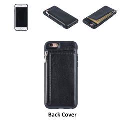 UNIQ Accessory iPhone 6 Kunstleer Backcover hoesje met rits - Zwart