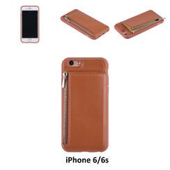 UNIQ Accessory iPhone 6 Kunstleer Backcover hoesje met rits - Bruin