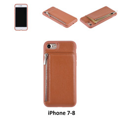Back Cover for iPhone 7-8 - Brown