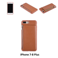 Back Cover for iPhone 7-8 Plus - Brown