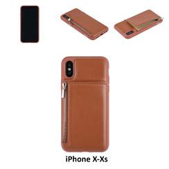 Back Cover voor Apple iPhone X-Xs - Bruin