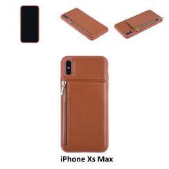 Back Cover voor Apple iPhone Xs Max - Bruin