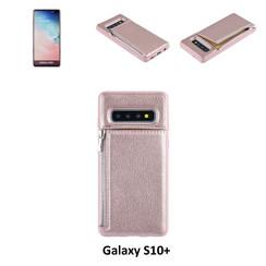 UNIQ Accessory Galaxy S10 Plus Kunstleer Backcover hoesje met rits - Roze