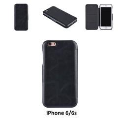 Apple iPhone 6/6s Titulaire de la carte Noir Book type housse - Fermeture magnétique