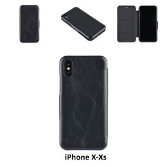 Apple iPhone X;iPhone Xs Card holder Black Book type case for iPhone X;iPhone Xs Magnetic closure