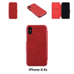 Apple iPhone X;iPhone Xs Card holder Red Book type case for iPhone X;iPhone Xs Magnetic closure