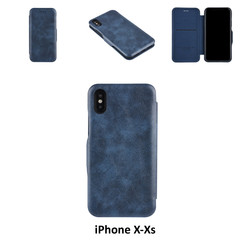 Apple iPhone X;iPhone Xs Card holder Blue Book type case for iPhone X;iPhone Xs Magnetic closure
