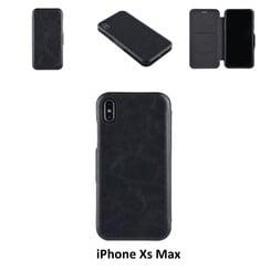 Apple iPhone Xs Max Titulaire de la carte Noir Book type housse - Fermeture magnétique