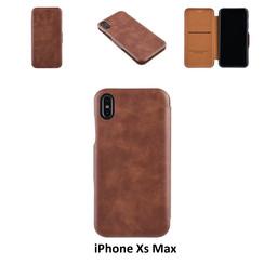 Apple iPhone Xs Max Titulaire de la carte Marron Book type housse - Fermeture magnétique