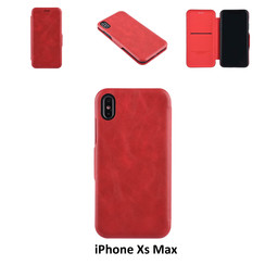 Apple iPhone Xs Max Card holder Red Book type case for iPhone Xs Max Magnetic closure