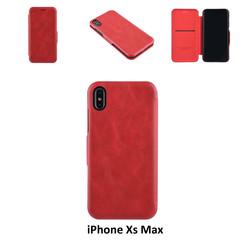 Apple iPhone Xs Max Titulaire de la carte Rouge Book type housse - Fermeture magnétique