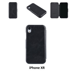 Apple iPhone XR Titulaire de la carte Noir Book type housse - Fermeture magnétique