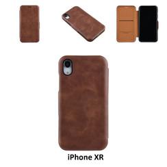 Apple iPhone XR Titulaire de la carte Marron Book type housse - Fermeture magnétique
