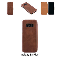 Samsung Galaxy S8 Plus Card holder Brown Book type case for Galaxy S8 Plus Magnetic closure