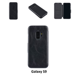 Samsung Galaxy S9  Card holder Black Book type case for Galaxy S9  Magnetic closure