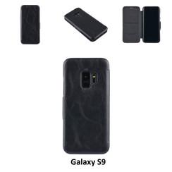 Samsung Galaxy S9  Titulaire de la carte Noir Book type housse - Fermeture magnétique