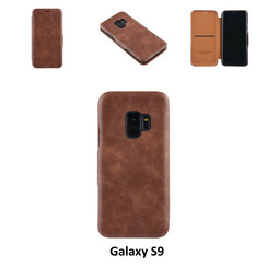 Samsung Galaxy S9  Card holder Brown Book type case for Galaxy S9  Magnetic closure
