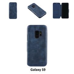Samsung Galaxy S9  Pasjeshouder Blauw Booktype hoesje - Magneetsluiting - Kunststof;TPU