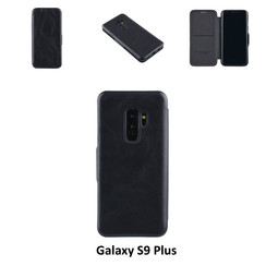 Samsung Galaxy S9 Plus Card holder Black Book type case for Galaxy S9 Plus Magnetic closure