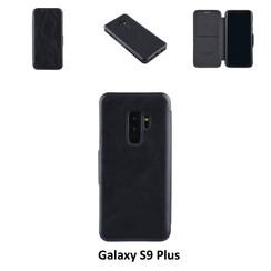 Samsung Galaxy S9 Plus Titulaire de la carte Noir Book type housse - Fermeture magnétique
