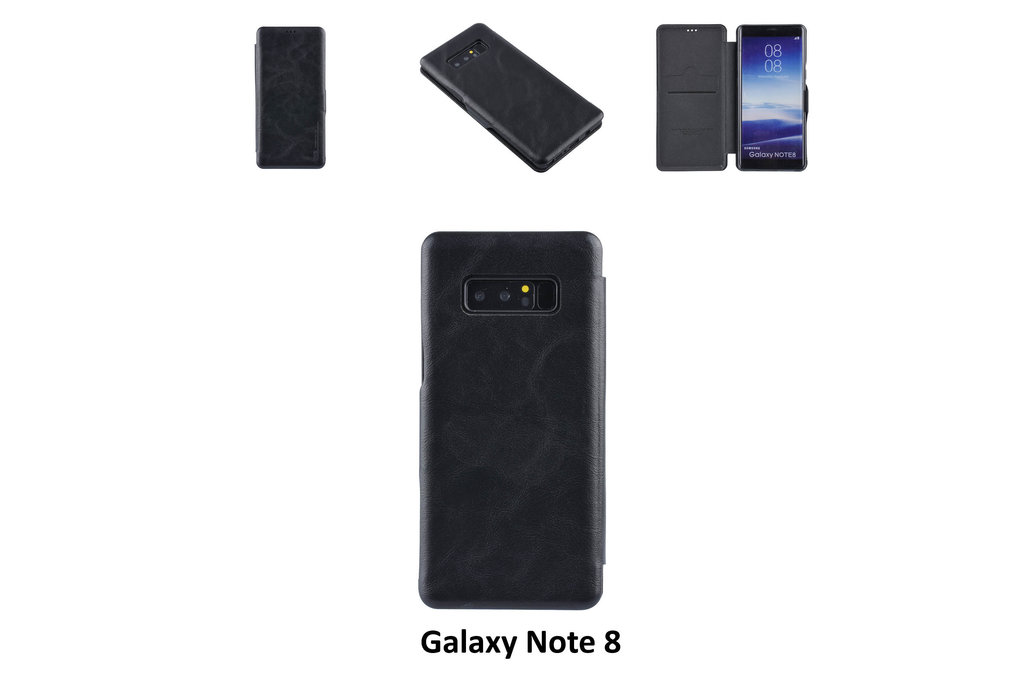 UNIQ Accessory Samsung Galaxy Note8 Card holder Black Book type case for Galaxy Note8 Magnetic closure