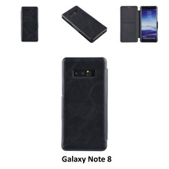 Samsung Galaxy Note8 Card holder Black Book type case for Galaxy Note8 Magnetic closure