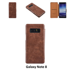 Samsung Galaxy Note8 Pasjeshouder Bruin Booktype hoesje - Magneetsluiting - Kunststof;TPU