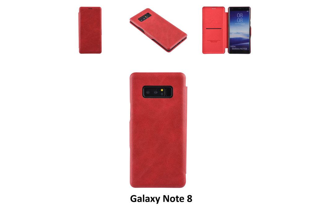 UNIQ Accessory Book Case for Galaxy Note 8 - Red