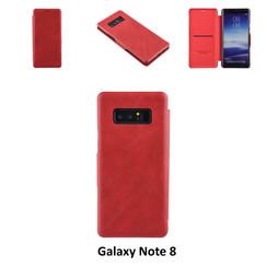Samsung Galaxy Note8 Pasjeshouder Rood Booktype hoesje - Magneetsluiting - Kunststof;TPU