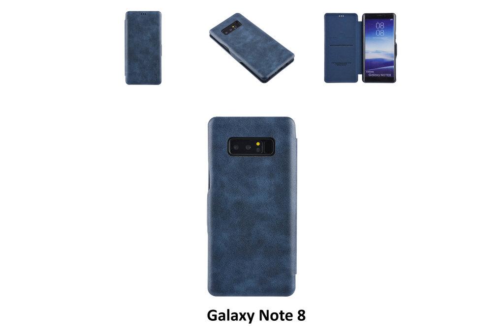 UNIQ Accessory Book Case voor Samsung Galaxy Note 8 - Blauw