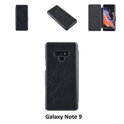 Samsung Galaxy Note9 Card holder Black Book type case for Galaxy Note9 Magnetic closure