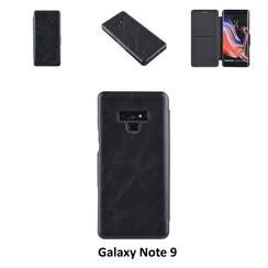 Samsung Galaxy Note9 Pasjeshouder Zwart Booktype hoesje - Magneetsluiting - Kunststof;TPU