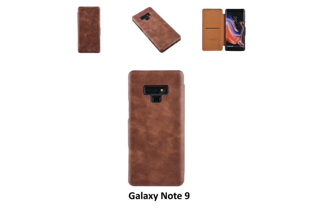 UNIQ Accessory Samsung Galaxy Note9 Pasjeshouder Bruin Booktype hoesje - Magneetsluiting - Kunststof;TPU